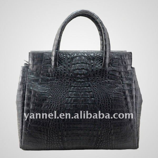 black Crocodile skin lady tote_crocodile leather lady purse#exotic bags#luxury products
