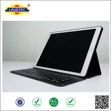 New hot selling Black wireless Keyboard with Bluetooth leather case for iPad pro
