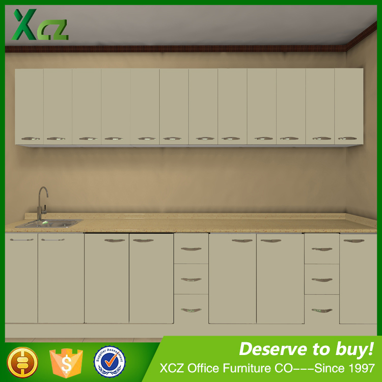Competitive price white kitchen cabinet kitchen cupboard designs of kitchen hanging cabinets