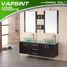 High quality double sink pvc bathroom cabinet