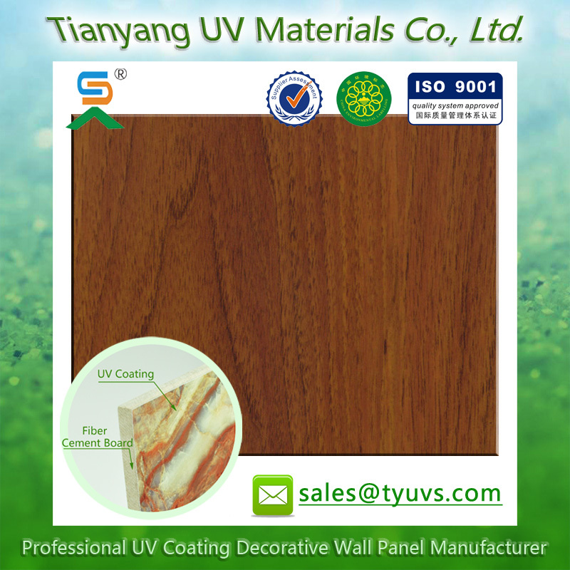 innovate decorative wall board lightweight Wood Grain UV decorative Fiber cement board