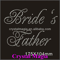 iron on crystal bridal motif