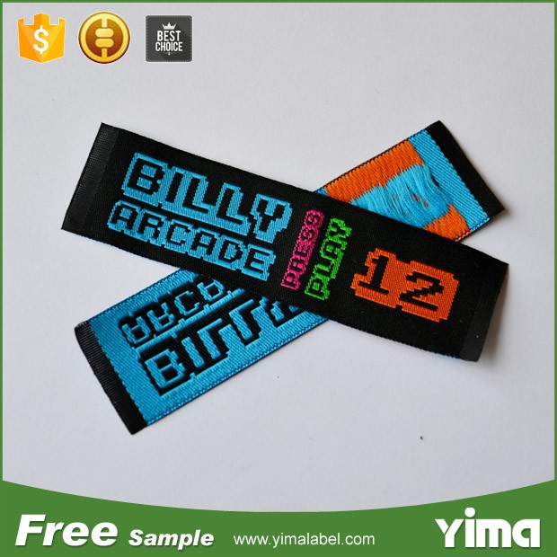 China custom charm woven labels for clothing