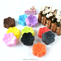 Customized flowers shape silicone cake baking molds wholesale