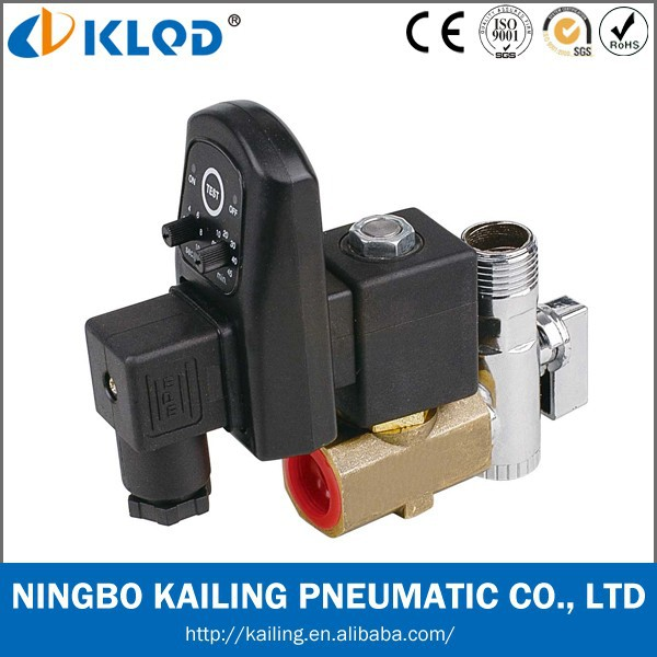 1/2 Inch Two-position Two-way electric auto drain solenoid valve with timer