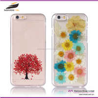 [Somostel] wholesale Dry pressed flower mobile cases cover custom PC TPU cell phone case for iphone 5C for samsung galaxy s5