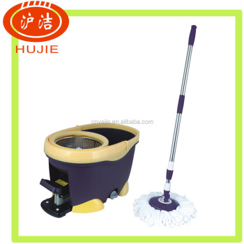 Magic cleaning mop , plastic mop bucket , plastic magic double spin mop