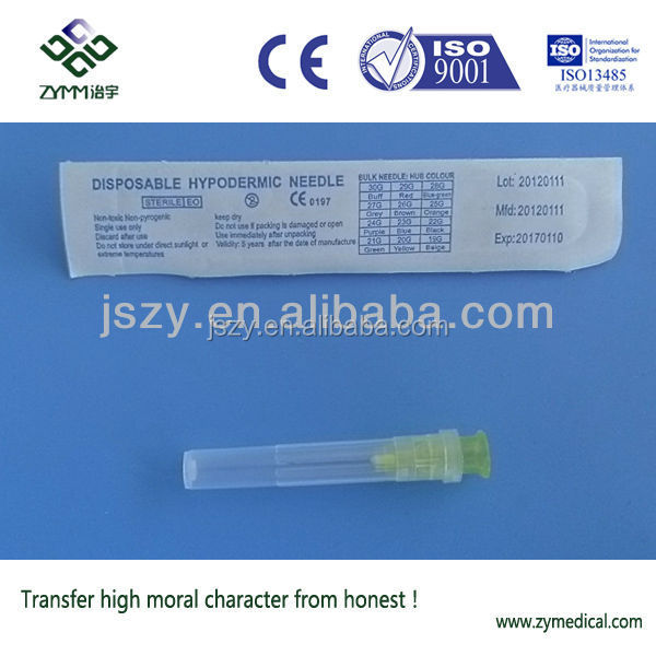sizes hypodermic needle 30G