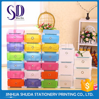 Colorful Thicker With Cover Storage Clear Plastic Shoe Box Wholesale