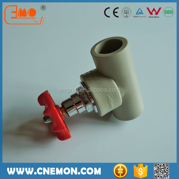 Grey Plastic PPR Pipe Fitting Water Check Valves and Fittings