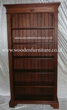 Classic Bookcase Mindi Wood Showcase Antique Reproduction Display Cabinet Office Furniture European Home Furniture