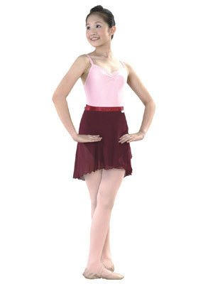 Girl ballet chiffon wrap skirt