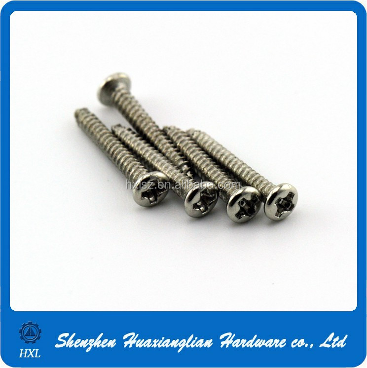 China Supplier Steel Nickel Plated Philips Pan Head M1.2 Self Tapping Screw