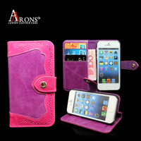 Pink woman fancy leather phone case for iphone 6s case leather
