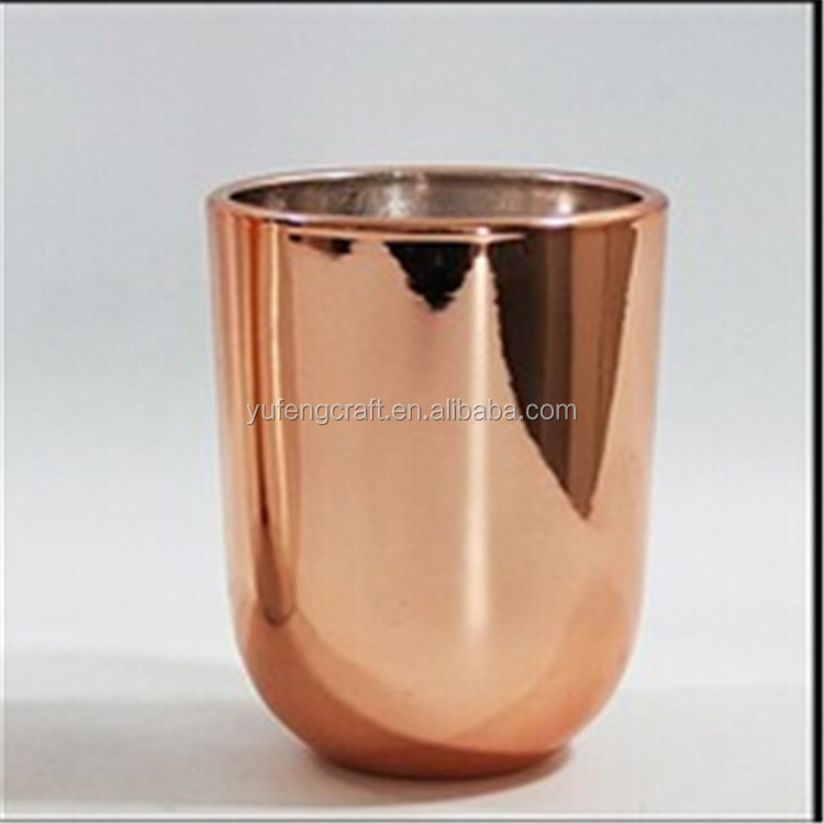 Mercury Votive Candle Holder/Copper Jar / Glass Tableware For Wedding & Home