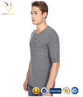 Short Sleeve T-shirt Wool Knitted Mens Crewneck Sweater