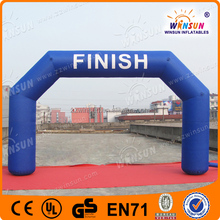 Advertising events inflatable finish line arch used in match