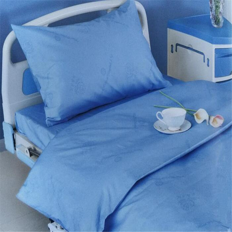 Wholesale solid color printing 100% cotton hospital duvet cover bed sheet for patient