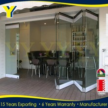 Frameless folding glass doors/Aluminium double glazed windows and doors comply with Australian & New Zealand standards