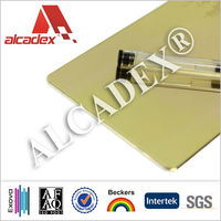 Foshan Alcadex silver/golden mirror curtain wall ACP