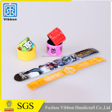 promotional funny colorful silicone slap band watch for sale