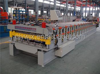 New design double layer roll forming machine for box profile stepped and glazed sheets