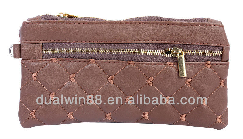 DualWin high quality hand purse lady leather purse