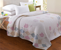 Hand embroidery design cotton material bedsheet double bed/flower design bed sheet korea