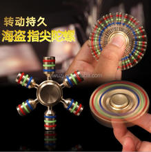 hexagonal runner fingertips gyro restless long toy hand wheel rotation/adult fun for children with autism fidget spinner lepin