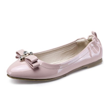 Wholesale factory patent leather casual flat shoes women dancing shoes