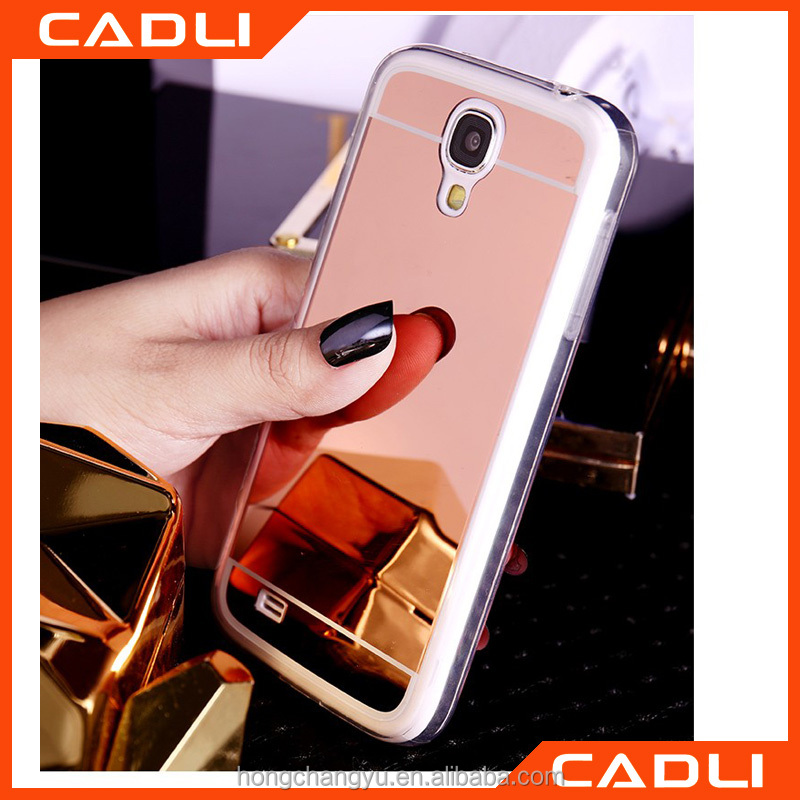 New Luxury Acrylic Soft TPU Protect Phone Back Cover Ultra Slim Mirror Case For Samsung Galaxy S3/S4/S5
