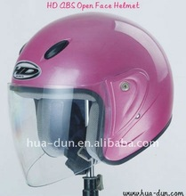 2015 hot sale helmet with good quality and new ABS material open face motorcycle helmet