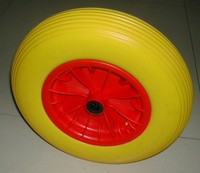 plastic Wheelbarrow 4.0-8 Solid Heavy Duty PU Foam Rubber Wheel