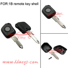 Peugeot 206 1 button remote key shell with logo(words on the back)