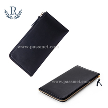 genuine leather wallet man's zippered wallet personalized wallet