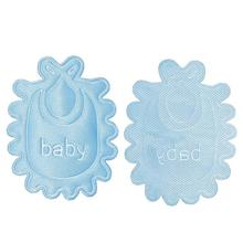 "Blue Message baby "" DIY Scrapbooking Craft Baby Decorative Clothing Patches Fabric Flower Applique Designs"