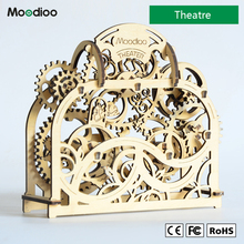 Moodioo Theatre New puzzle toys wood craft assembly 3D wooden toy