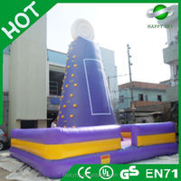 2015 Top quality Crazying rotating climbing wall,kids climbing wall,inflatable kids rock climbing wall