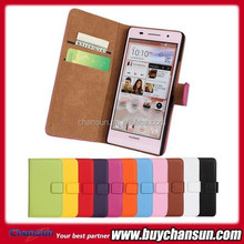 2015 Hot sell product wallet leather case for Huawei Ascend P6