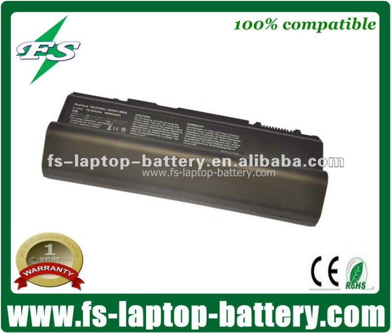 PA3456-1BRS,PABAS105,PABAS162 rechargeable laptop battery for Toshiba Satellite Pro U200 Tecra A10,A2,A3X