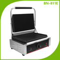 Single Panini Press Machine With Grooved Enameled Cast Iron