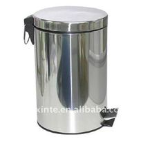 stainless steel bathroom pedal dustbin