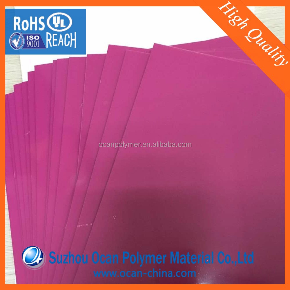 Fuchsia Color PVC Flexible Plastic Decorative Sheets for Furniture