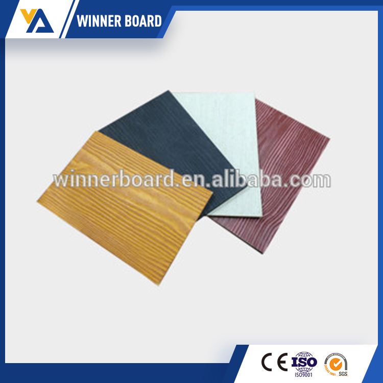 Exterior Decorative Faux Wood Fiber Cement Siding For Wall Decoration