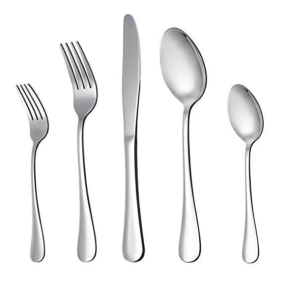 Mirror Polished Kitchen Restaurant Stainless Steel Silverware Set
