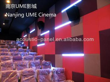 glass wool insulation board fabric acoustic panel for cinema/theater/opera house