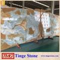 Background Polished Blue Onyx Slab For Decoration