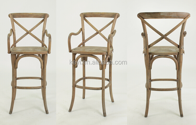 Antique Wooden Bistro Barstool Cross Back High Chairky  : HTB1VXMsIpXXXXbuXVXXq6xXFXXXl from www.alibaba.com size 750 x 480 jpeg 371kB