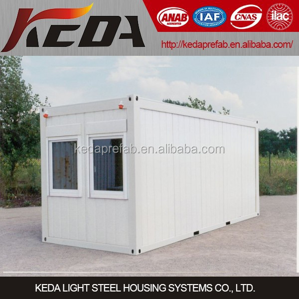 Prefabricated Flat Pack Container House As Temporary Site Office