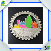 France Tourist Attractions Souvenir Alloy Plated Bronze Metal Custom Fridge Magnet